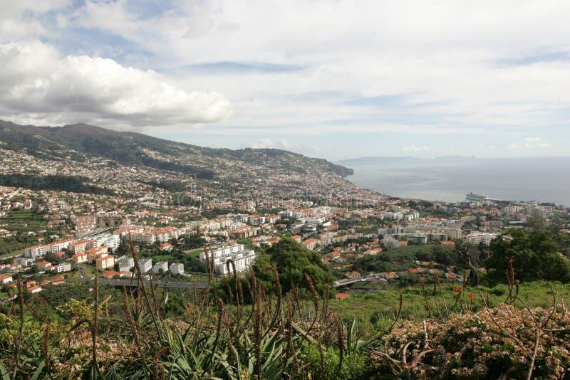 Funchal-Panorama stockfotografie