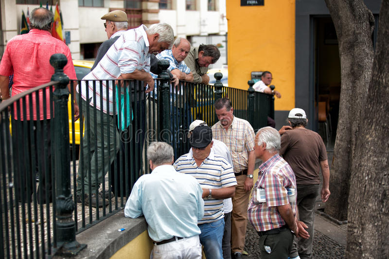 FUNCHAL, PORTUGAL - JUNE 27, 2015: Active retirement, old people stock images