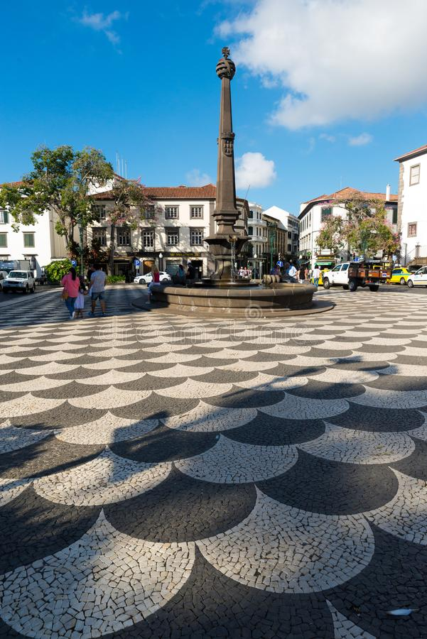 FUNCHAL, PORTUGAL - 5. SEPTEMBER 2017: Ansicht der historischen PR lizenzfreie stockbilder