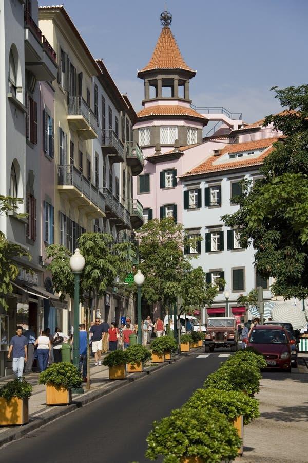 Funchal sur l'île de la Madère photo libre de droits
