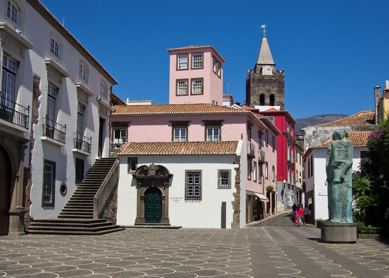 Funchal town centre - Madeira stock image