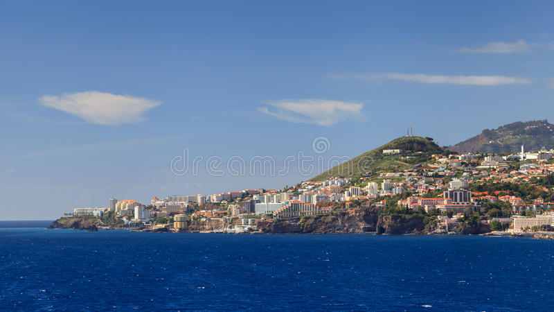 Funchal Waterfront. The waterfront of Funchal on the Portuguese island of Madeira stock images