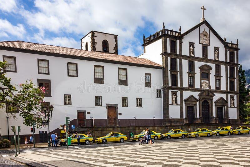 Funchal zarządu miasta grodzki kwadrat, madery wyspa, Portugalia fotografia stock