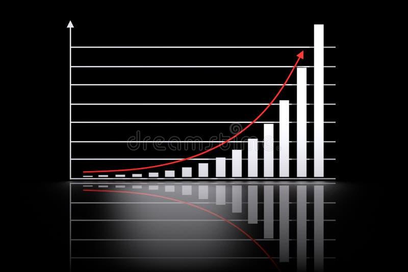 Función de crecimiento exponencial matemática stock de ilustración