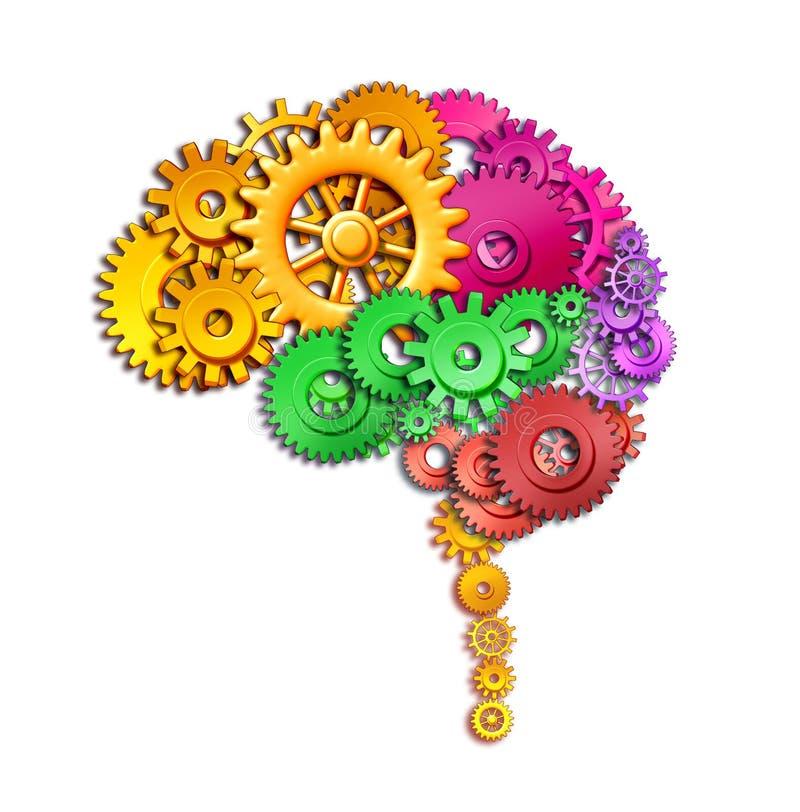 Función del cerebro humano stock de ilustración