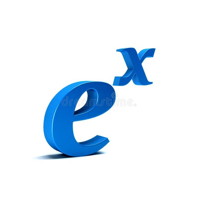 Función exponencial natural ilustración de la representación 3d ilustración del vector
