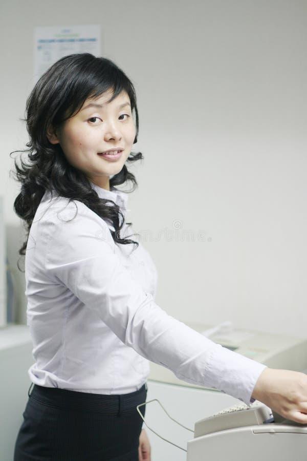 Funcionamento asiático novo com cópia fotografia de stock royalty free