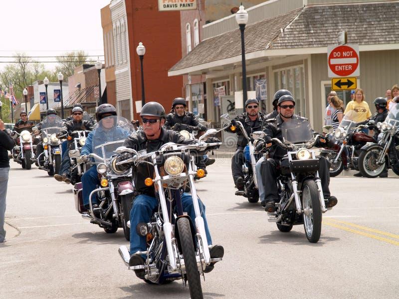Funcionamento da caridade do motociclista fotografia de stock royalty free