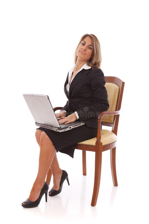 Funcionamento da mulher de negócios fotos de stock