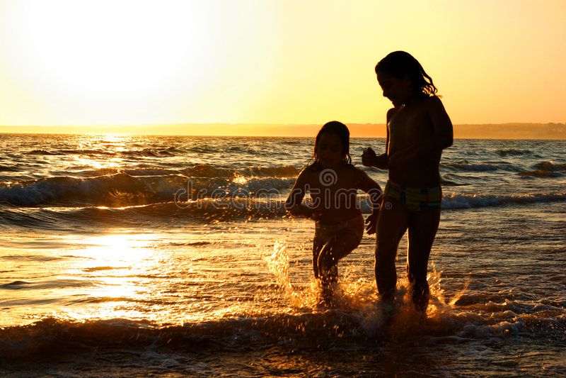 Funcionamento da praia imagens de stock royalty free