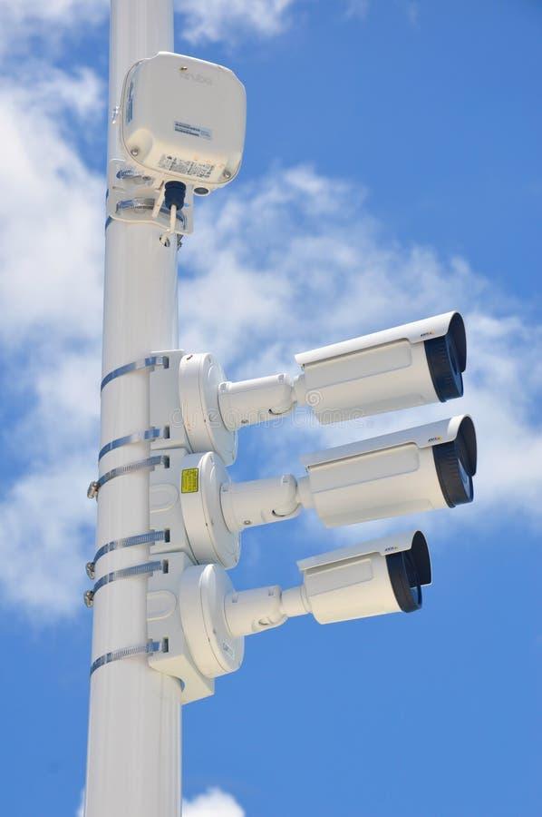 Funcionamento das câmaras de segurança imagem de stock royalty free