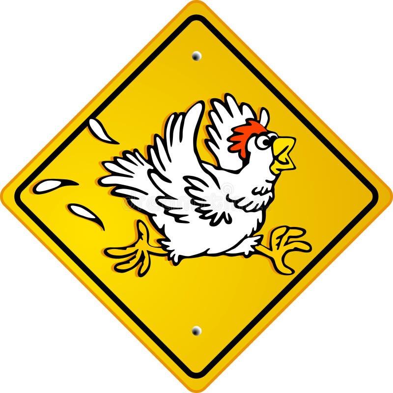 Funcionamento de galinha ilustração stock