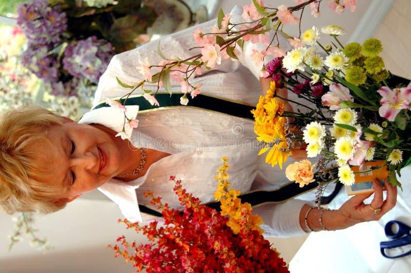 Funcionamento do florista fotos de stock