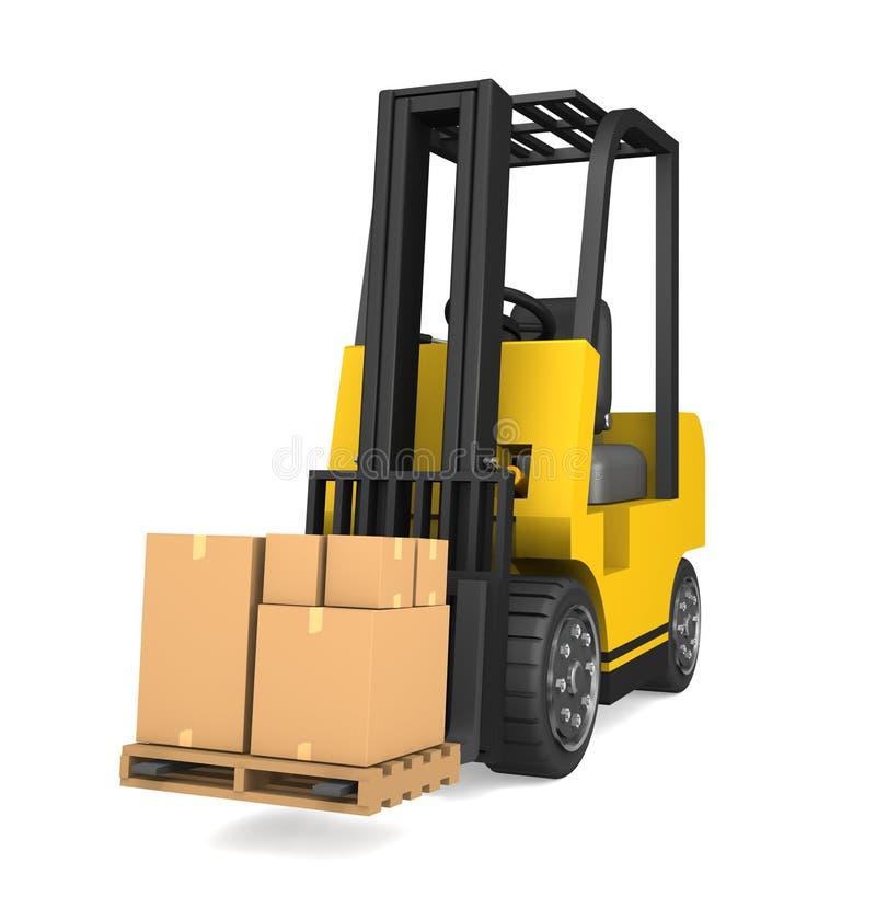 Funcionamento do Forklift ilustração stock