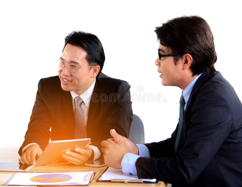 Funcionamento do homem de negócio dois imagem de stock royalty free
