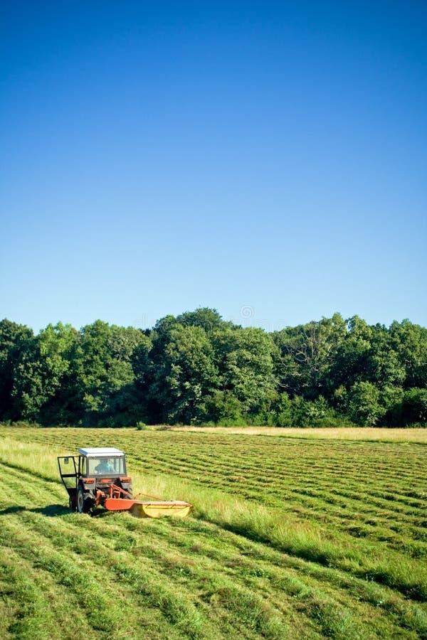 Funcionamento do trator, trabalho agricultural imagens de stock