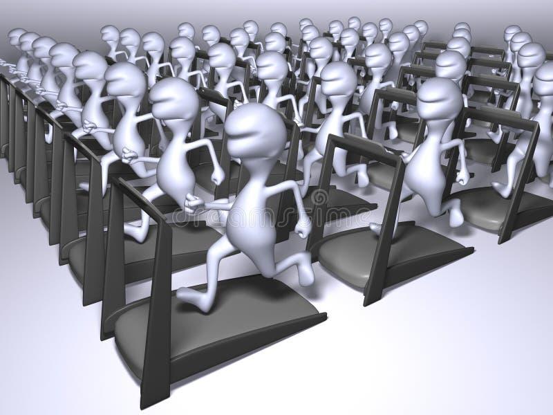 Funcionamento dos clone ilustração do vetor