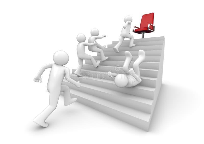 Funcionamento na escada do sucesso ilustração royalty free