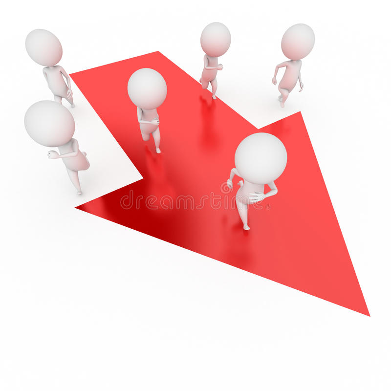 Funcionamento pequeno dos indivíduos ilustração do vetor