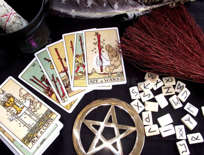 Funcionamentos de Wicca imagem de stock