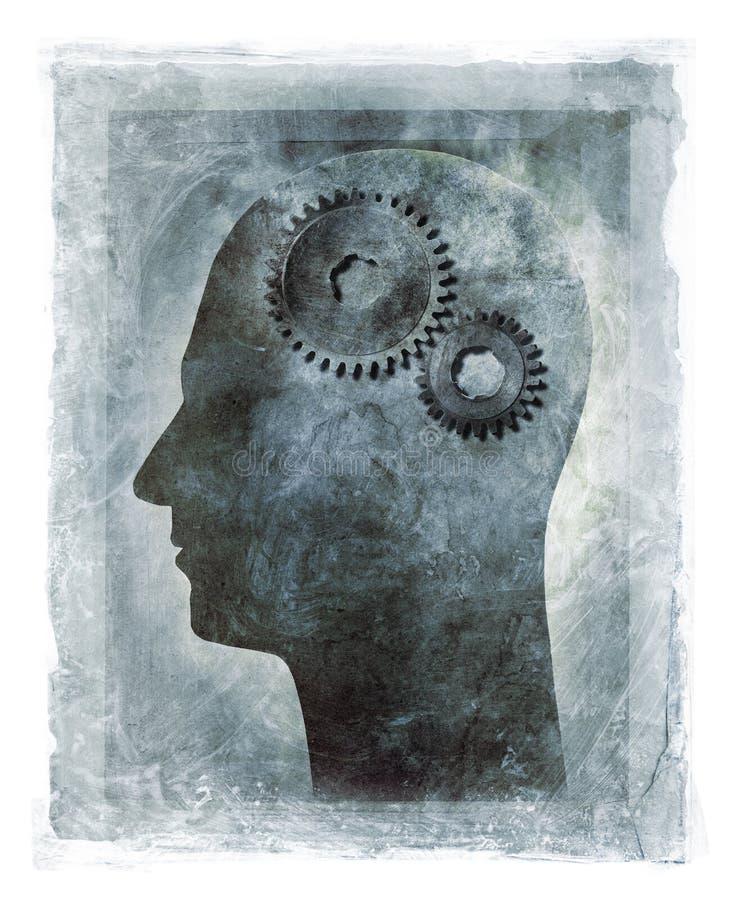 Funcionamentos internos da mente humana ilustração do vetor