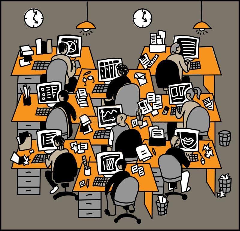 Funcionamiento de la gente libre illustration