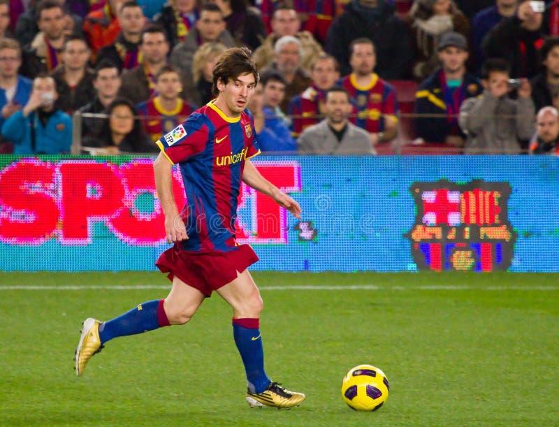 Funcionamiento de Leo Messi imagen de archivo libre de regalías