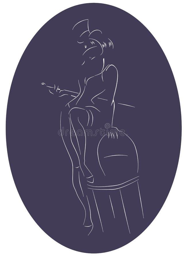 Download Funcionamiento Del Artista Burlesco Ilustración del Vector - Ilustración de bailarín, ejecutante: 42435419