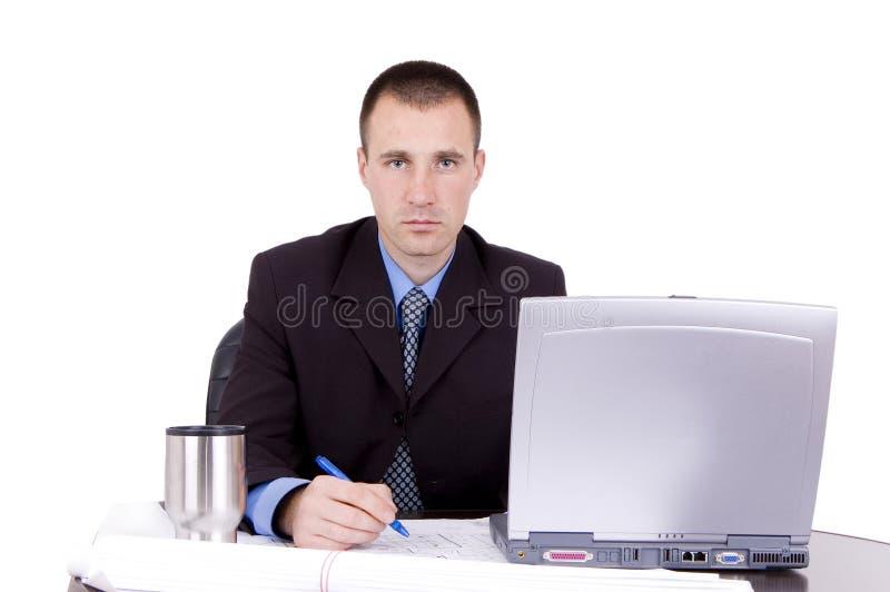Funcionamiento del hombre de negocios foto de archivo libre de regalías