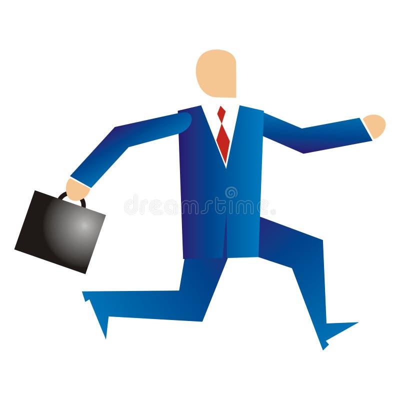 Funcionamiento del hombre de negocios ilustración del vector