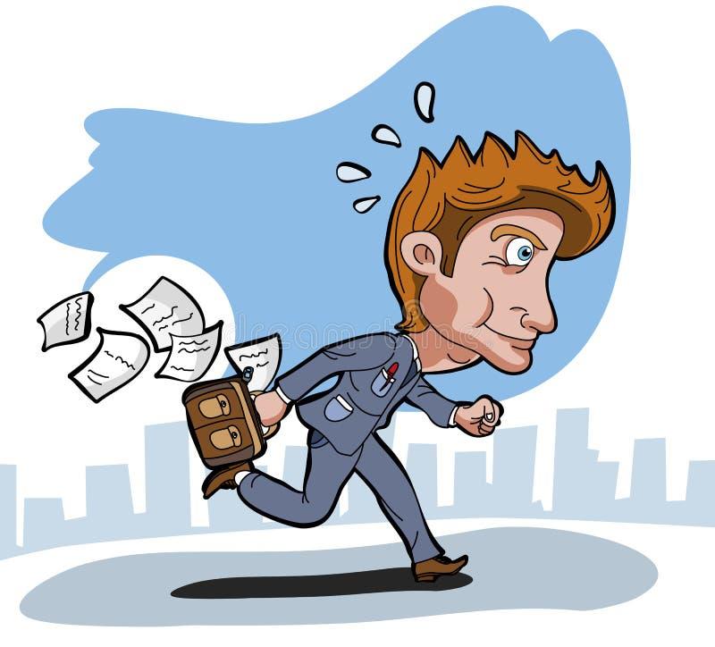 Funcionamiento del hombre de negocios stock de ilustración