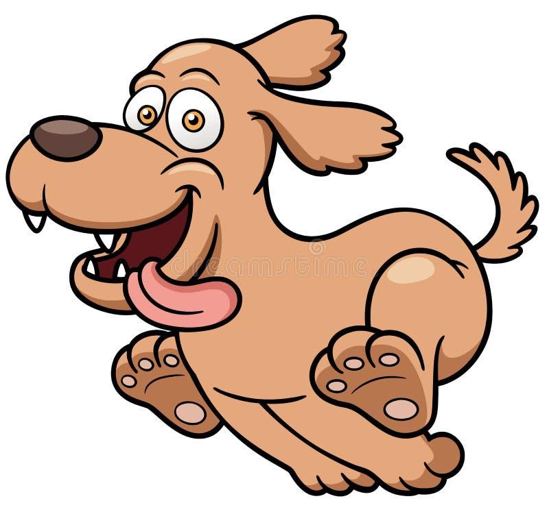 Funcionamiento del perro de la historieta stock de ilustración