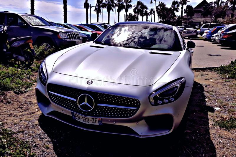Funcionamiento GT de Mercedes-AMG fotografía de archivo libre de regalías