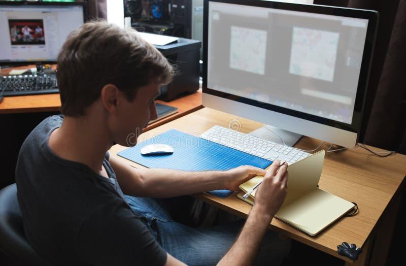 Funcionamiento independiente del promotor o del diseñador imágenes de archivo libres de regalías
