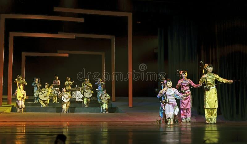 Funcionamiento instrumental popular tradicional chino del concierto imagen de archivo libre de regalías