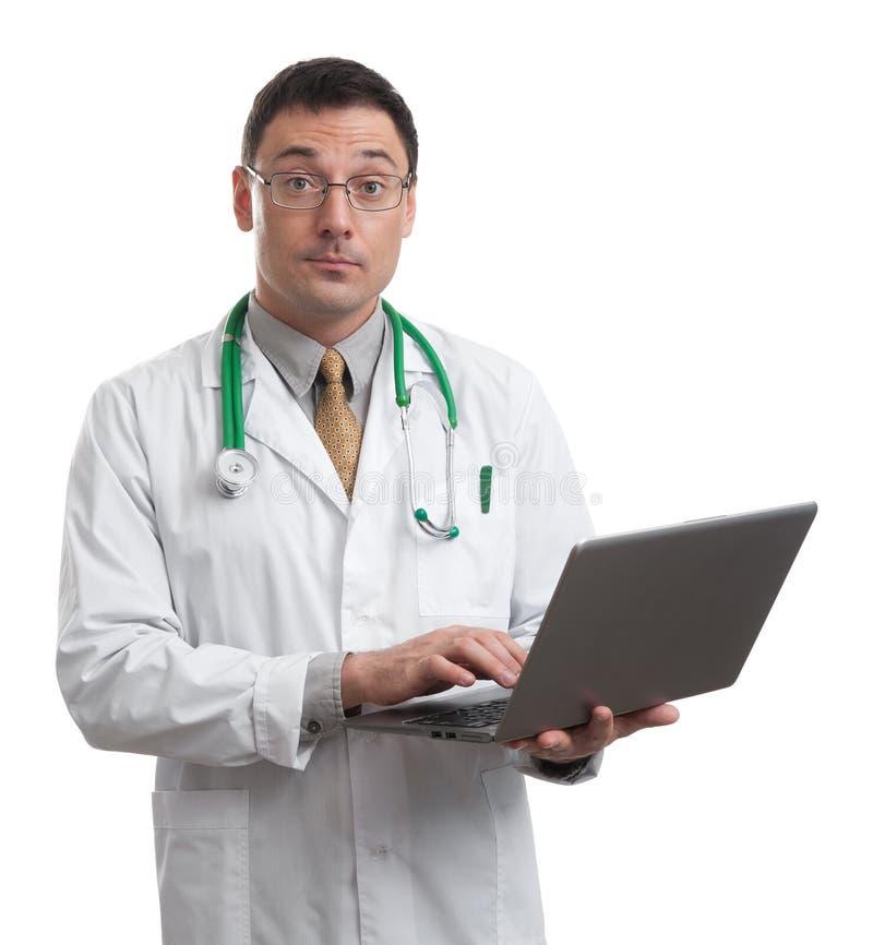 Funcionamiento masculino del doctor imagen de archivo libre de regalías