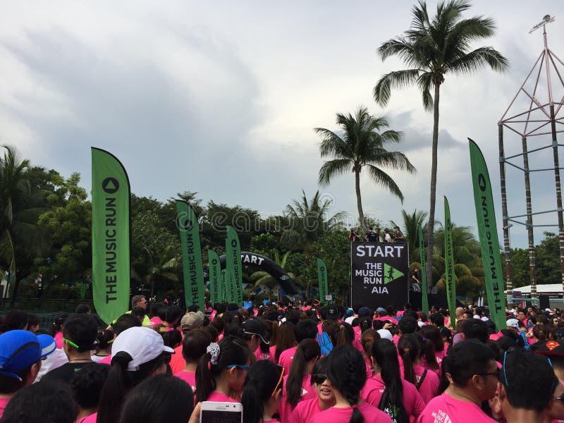 Funcionamiento Singapur 2015 de la música fotos de archivo libres de regalías
