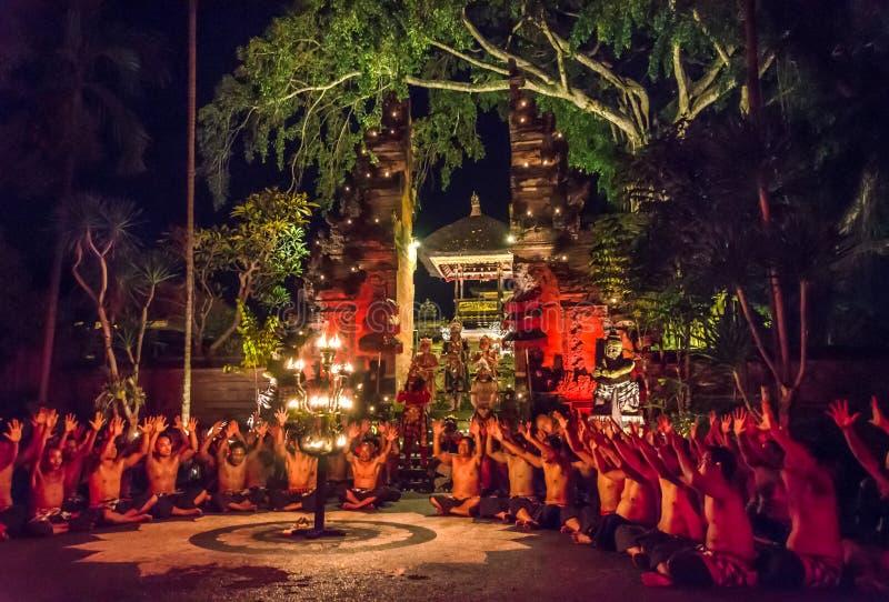 Funcionamiento tradicional de la danza del balinese foto de archivo libre de regalías