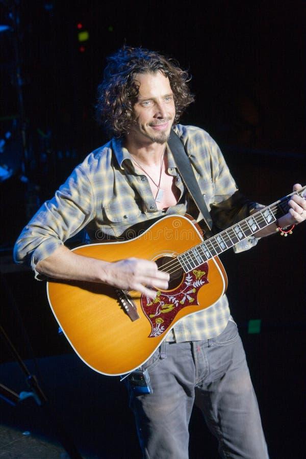 Funcionamiento vivo de Chris Cornell imagen de archivo libre de regalías