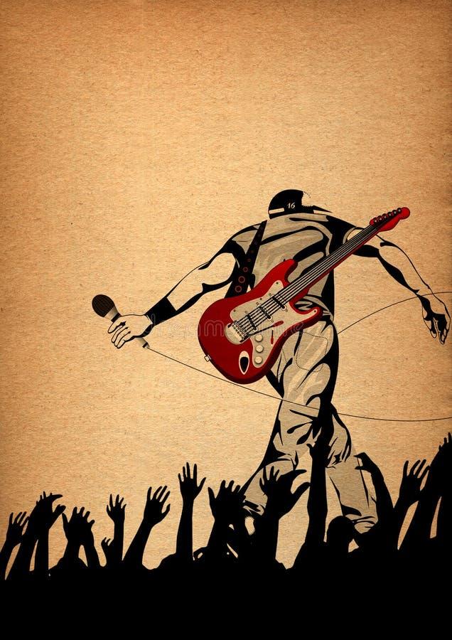 Funcionamiento vivo en la etapa, ilustración conceptual de Energic libre illustration