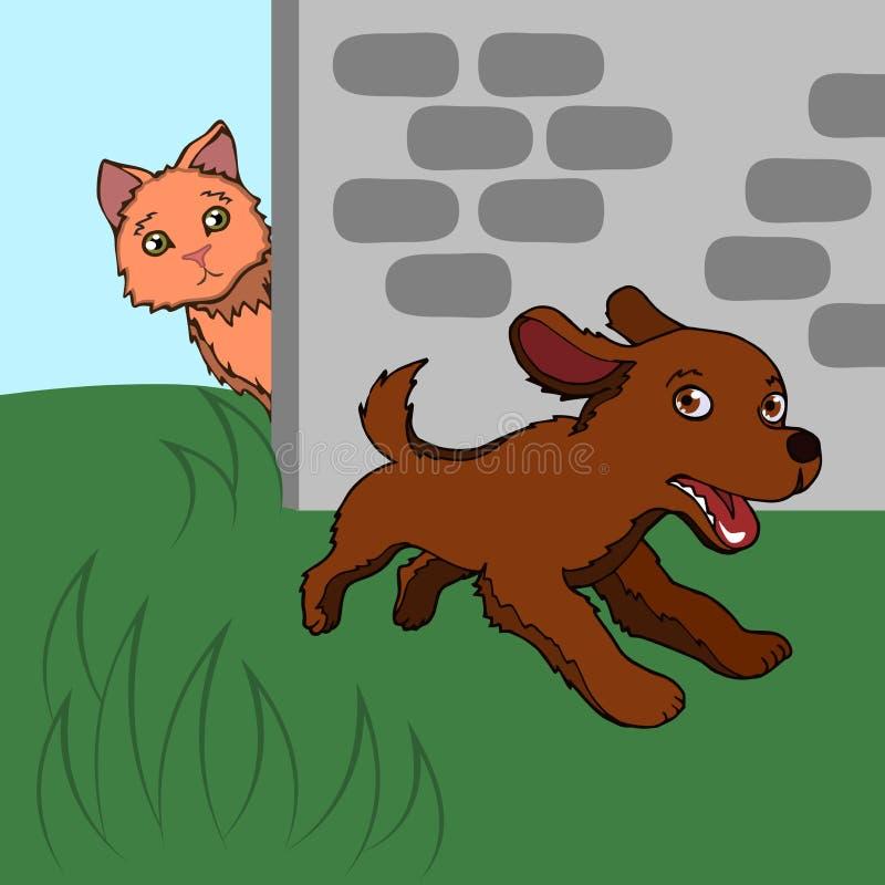 Funcionamientos del perrito libre illustration