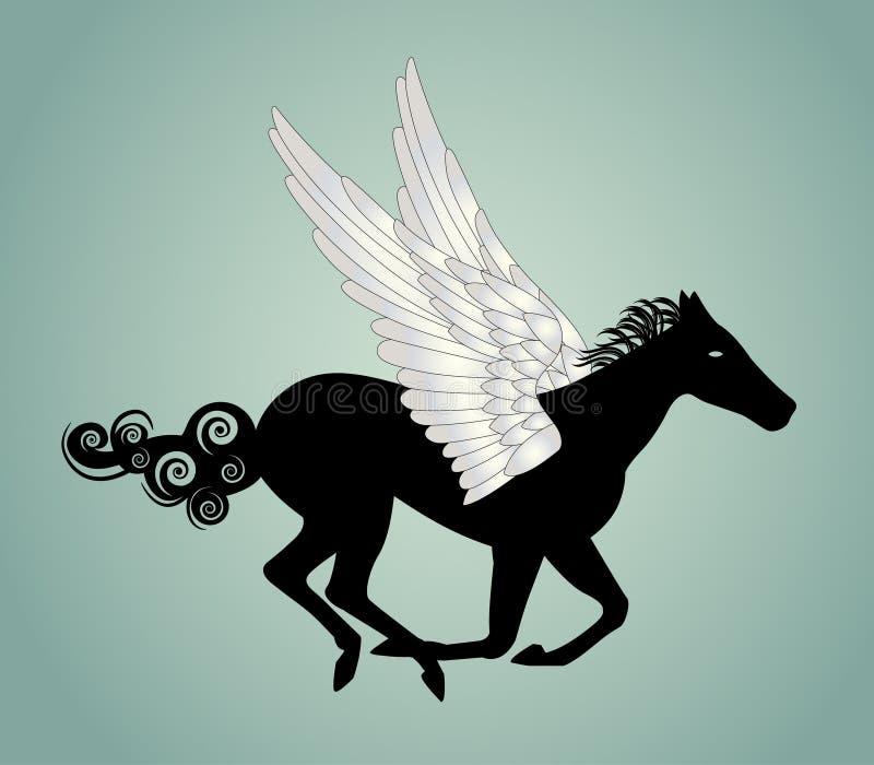 Download Cavalo de Pegasus ilustração do vetor. Ilustração de bonito - 29833685