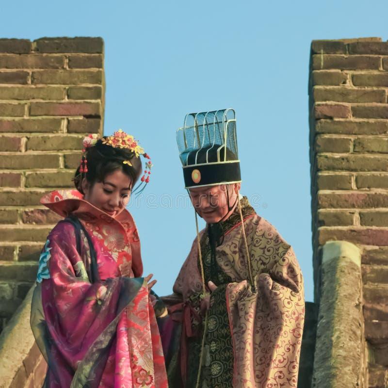 Funcionario chino antiguo Mutianyu, provincia de Hebei/China - oct imagen de archivo libre de regalías