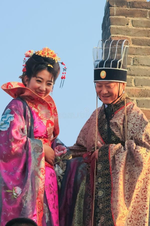Funcionario chino antiguo Mutianyu, provincia de Hebei/China - oct fotos de archivo