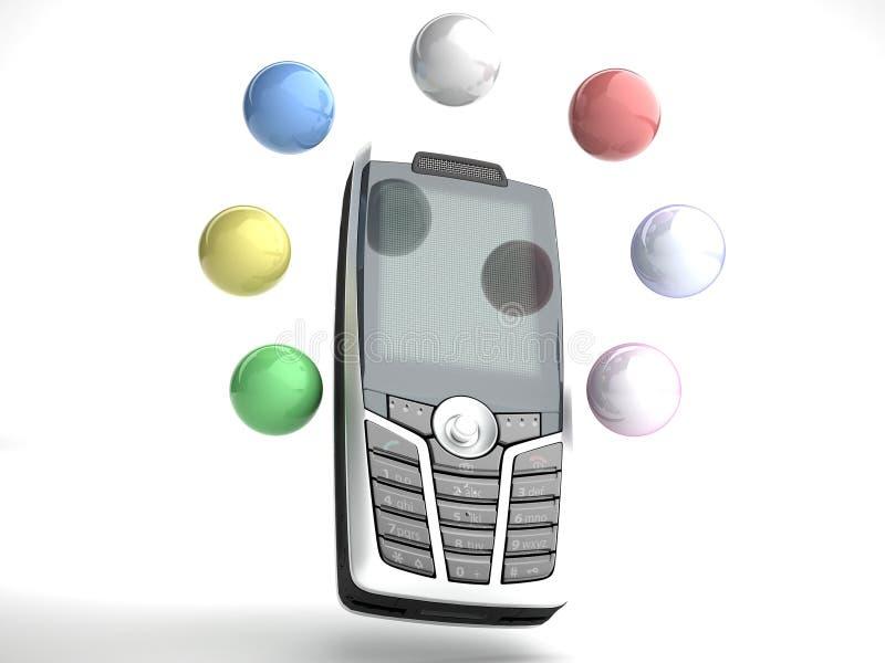 Funciones 2 del móvil fotos de archivo