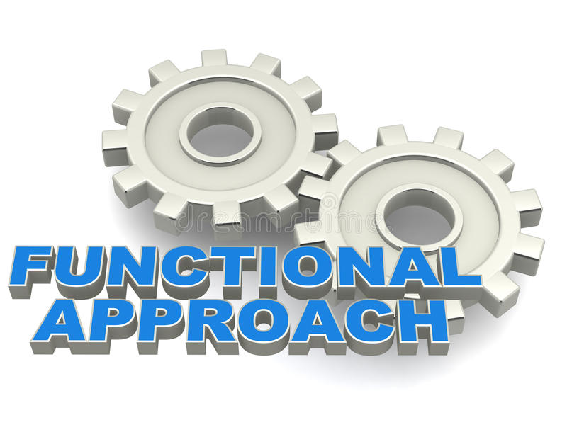 Functional approach vector illustration
