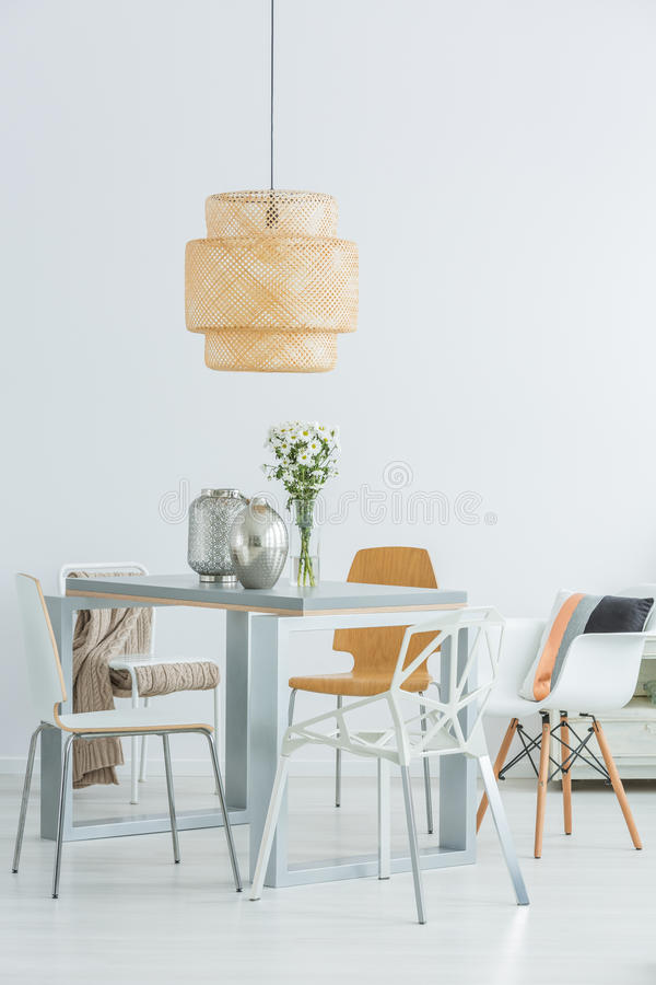 Free Functional Communal Table And Chairs Stock Photography - 84772012