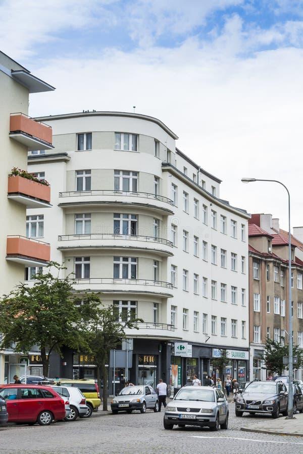 Functionalisticflatgebouw royalty-vrije stock fotografie