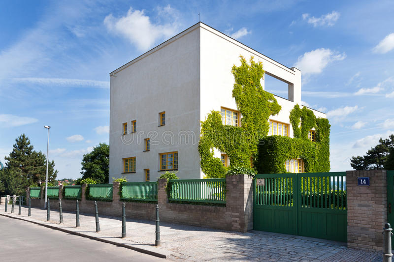 Functionalistism Loos (Mueller) villa, Prague, Czech republic royalty free stock image