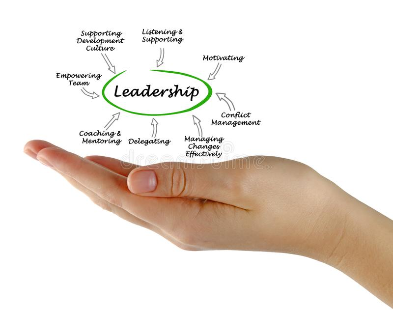 Functions of leadership stock image. Image of boss, presentation ...